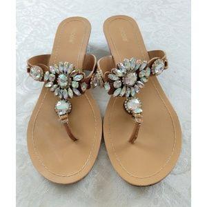 Nicole Rhinestone Embellished Sandals size 9.5M